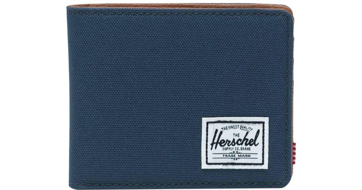 c102c04f35f4 Lyst - Herschel Supply Co. Hank Rfid Bi-fold Wallet in Blue for Men