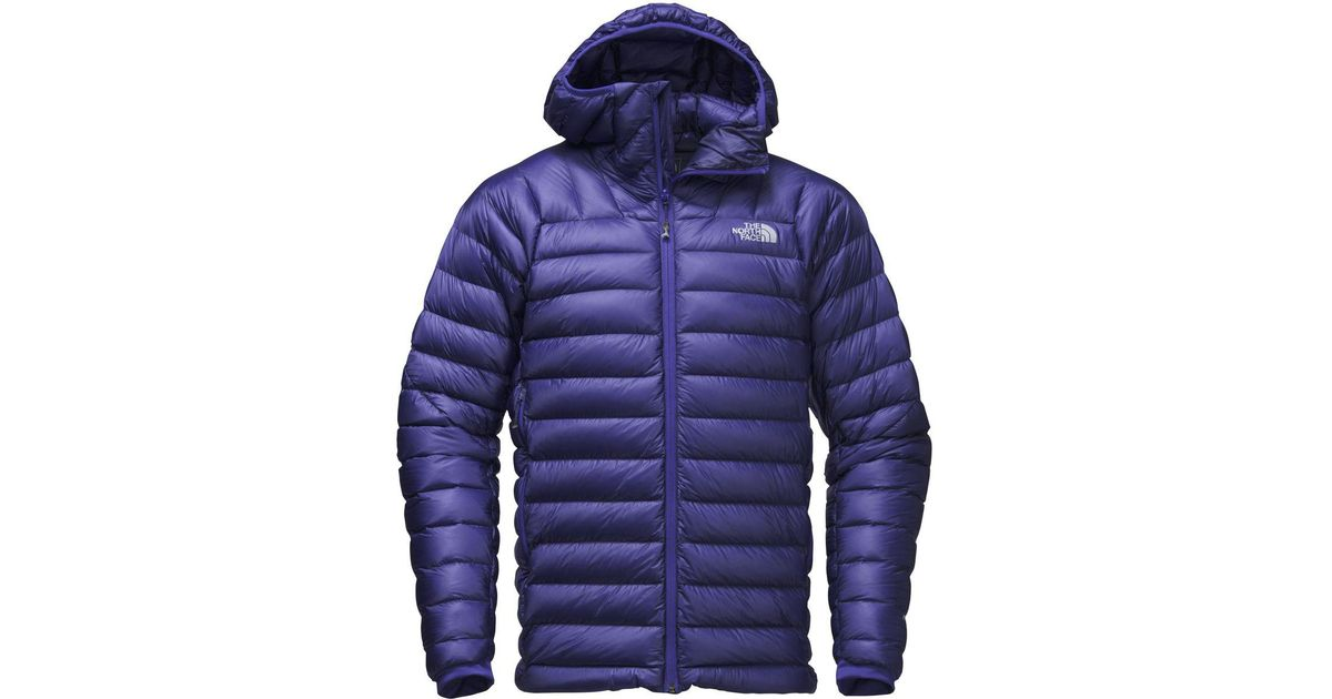 Lyst - The North Face Summit L3 Hooded Down Jacket in Blue for Men 09b9255a6