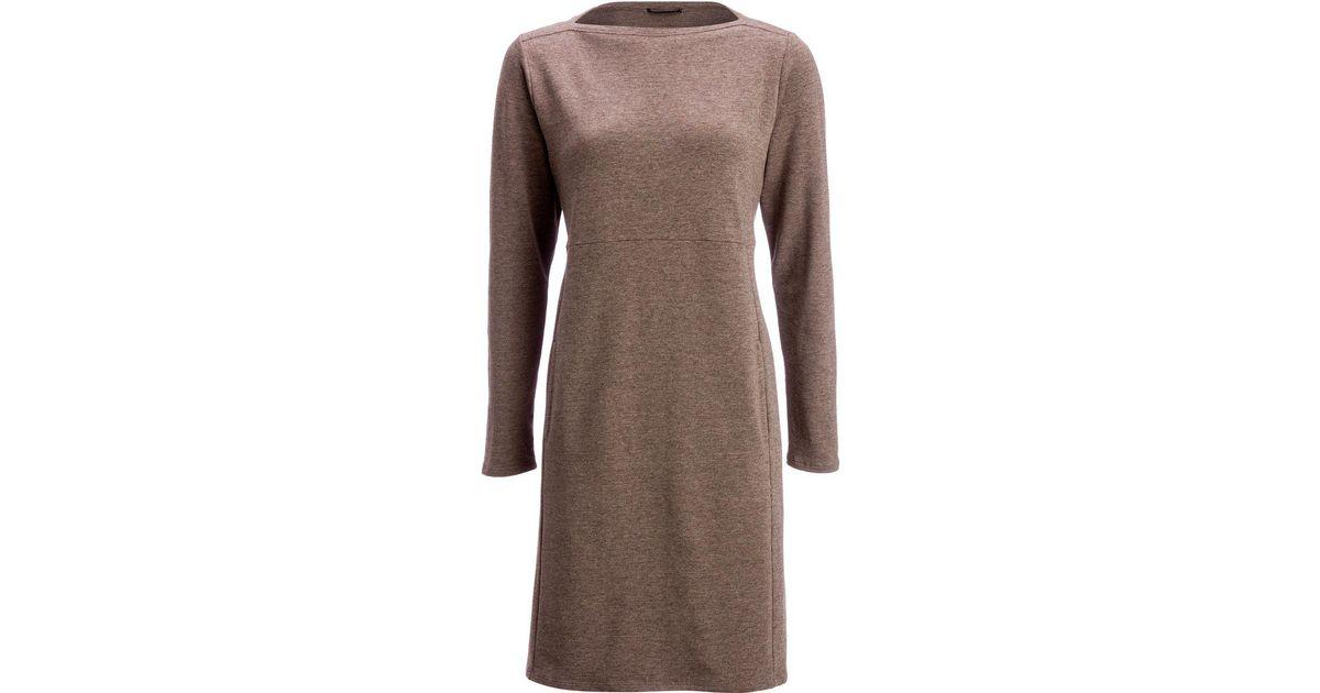 5d631a823f Lyst - Nau Elementerry Boatneck Dress in Brown