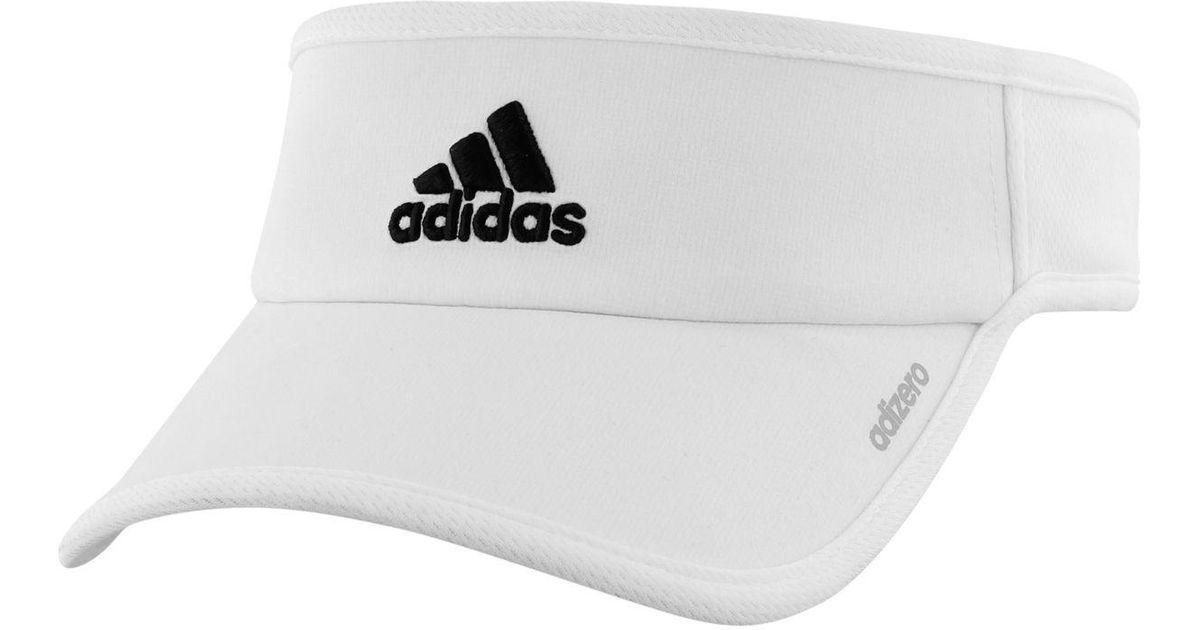 6a497db59c577 Lyst - adidas Originals Adizero Ii Visor in White