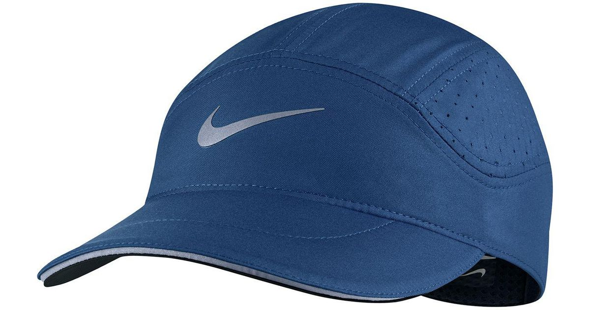detailed look ced60 94c59 ... mlb detroit tigers baseball caps hats legacy b4a43 5266d  sale lyst nike  aerobill elite running hat in blue for men 27dc5 bc312