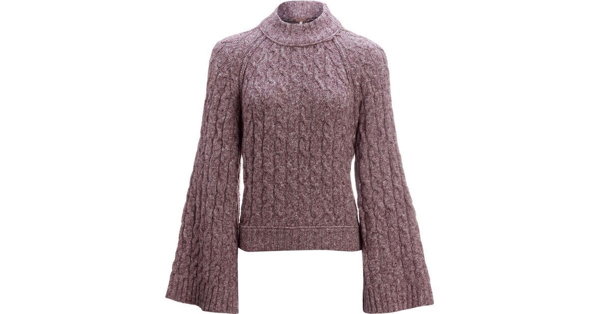 Free people Snow Bird Pullover Sweater in Purple | Lyst