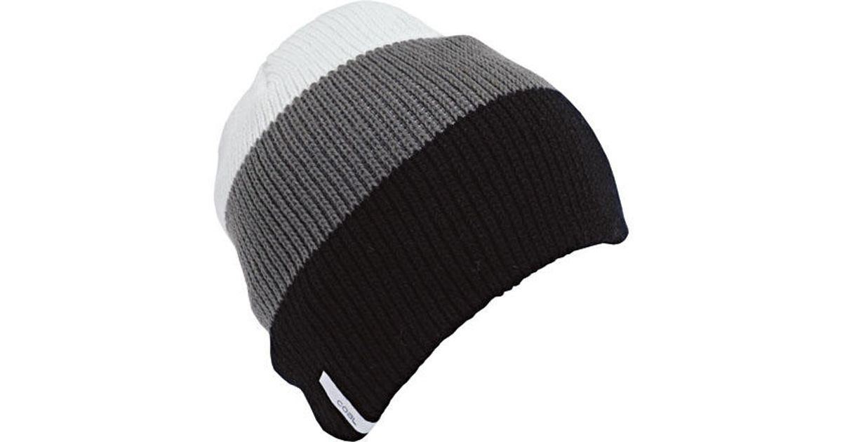 87bdf942efc Lyst - Coal Frena Stripe Beanie in Black for Men