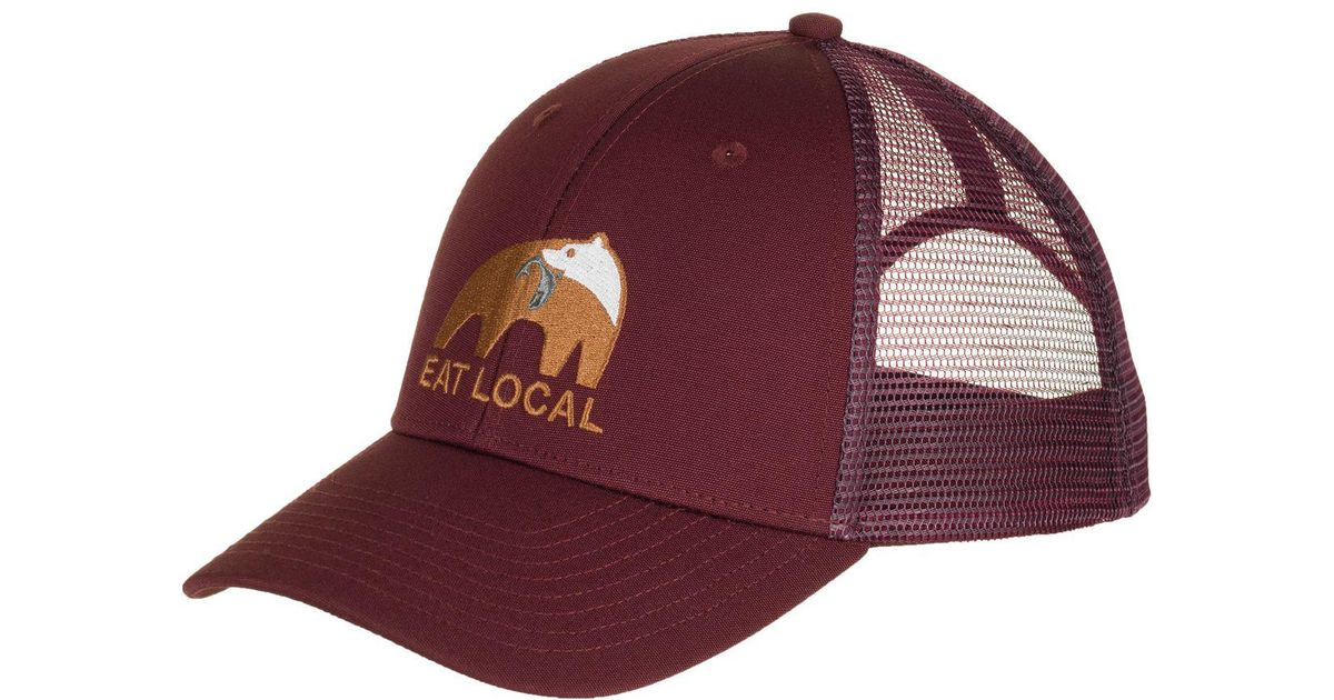 Lyst - Patagonia Eat Local Upstream Lopro Trucker Hat in Red for Men a48d93b55c4