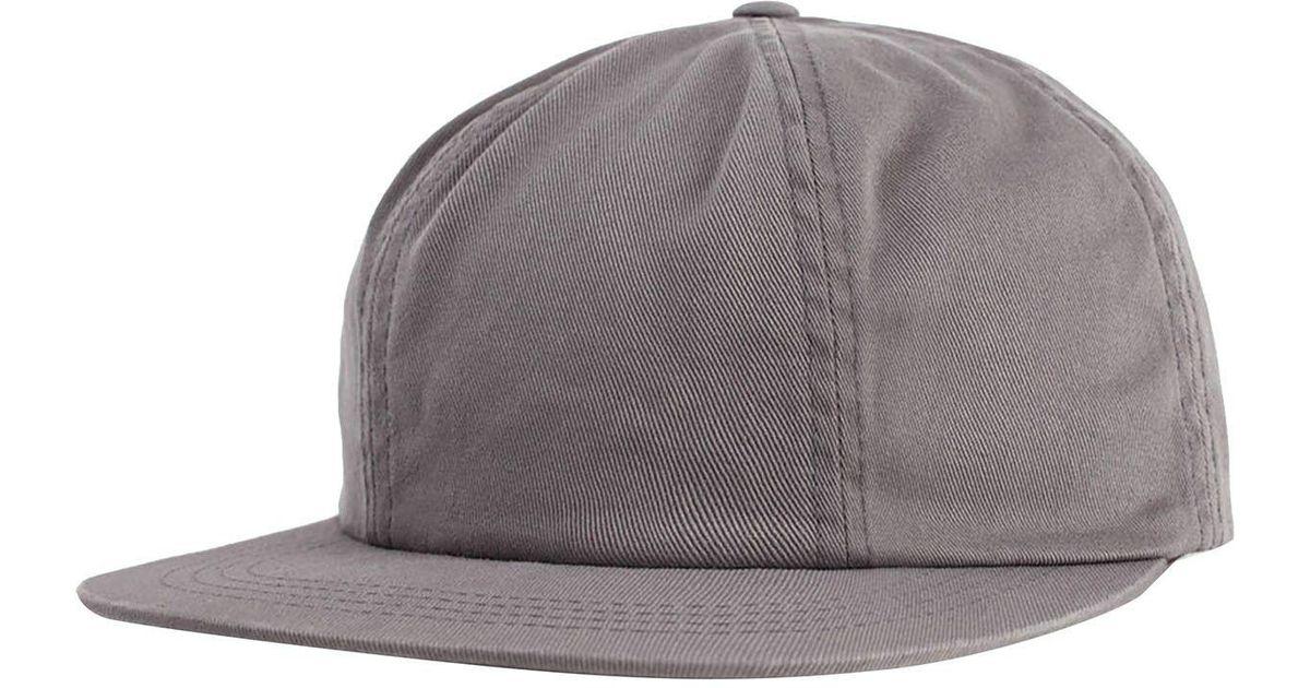 Lyst - Brixton Lakewood Cap in Gray for Men e3932bc5db8