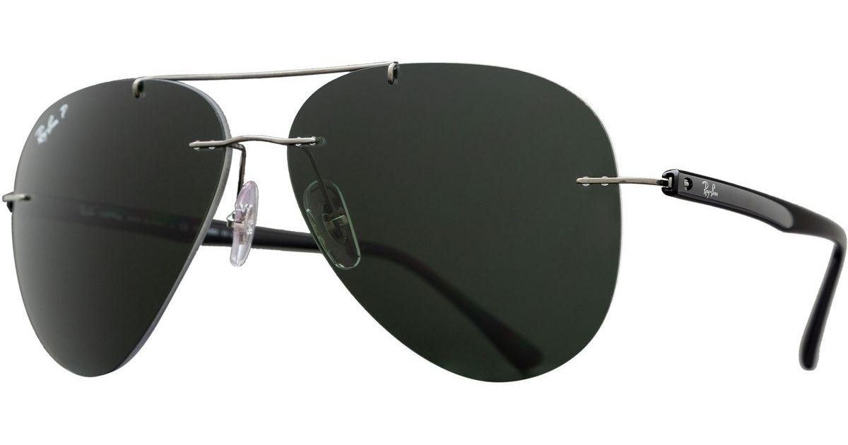 997cc7c8ea Lyst - Ray-Ban Rb8058 Sunglasses - Polarized in Green for Men