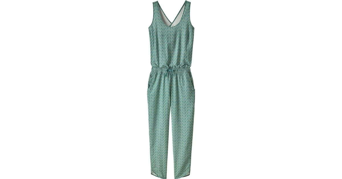 8c2ebfb73fc Lyst - Patagonia Fleetwith Romper in Green