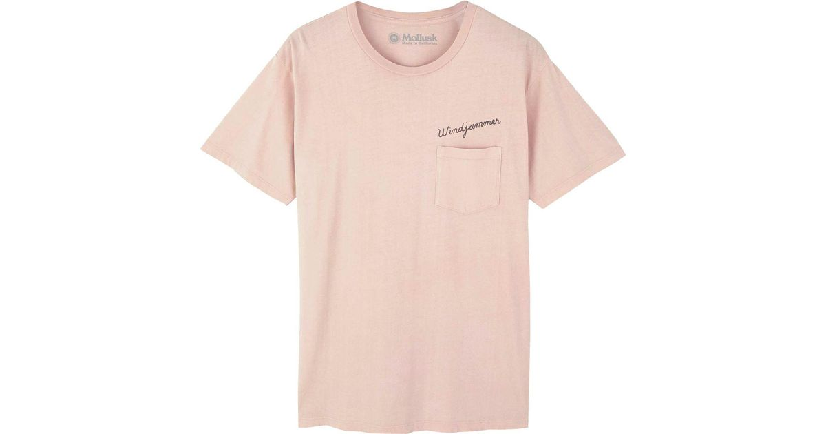 c48bbafe4071 Mollusk Windjammer T-shirt in Pink for Men - Lyst