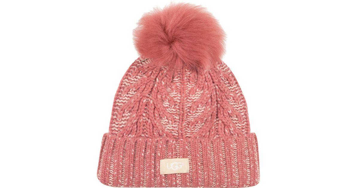 9c045eca472 Lyst - Ugg Cuff Hat in Pink for Men