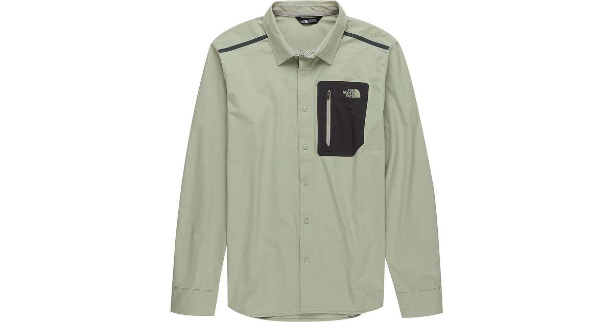 b89a430e1 The North Face Green Alpenbro Long-sleeve Woven Shirt for men
