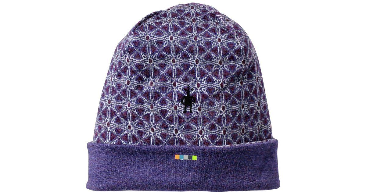 Lyst - Smartwool Merino 250 Pattern Cuffed Beanie in Purple for Men a1d829e558
