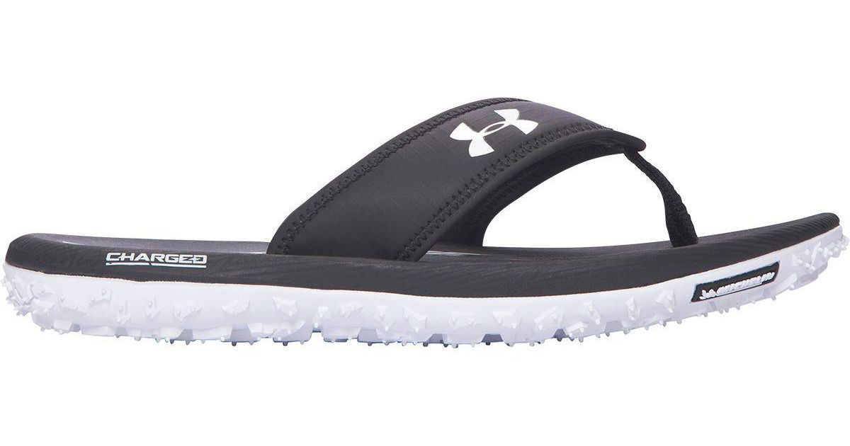df96cf189007 Lyst - Under Armour Fat Tire Flip Flop in Blue for Men