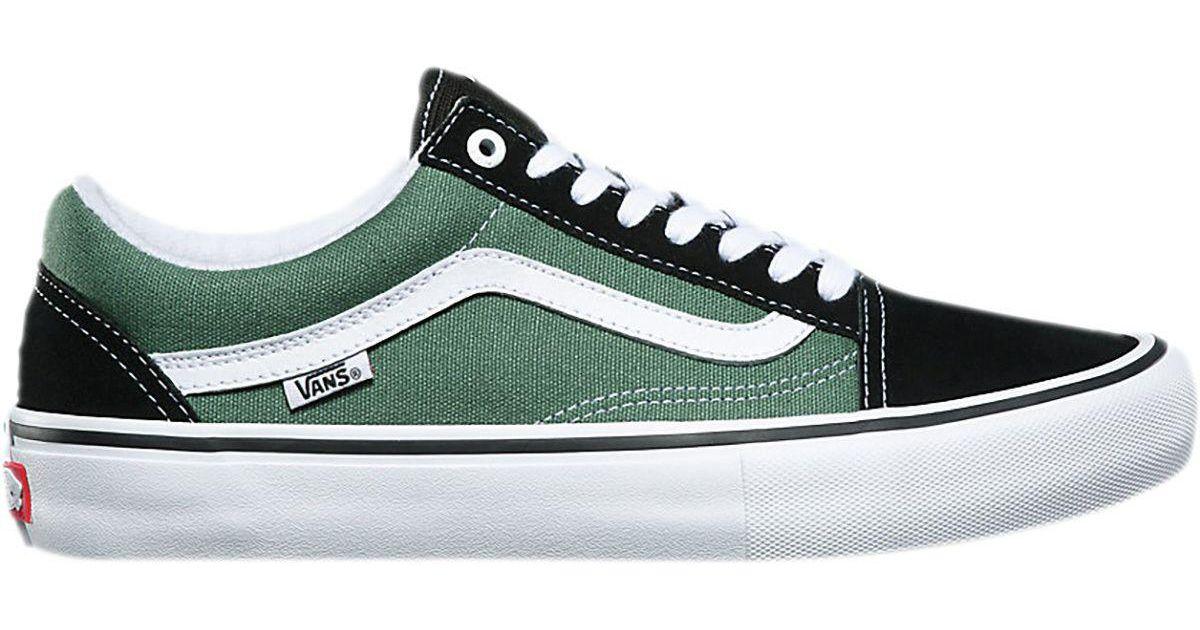 3917f0a54fb Lyst - Vans Old Skool Pro Skate Shoe in Green for Men