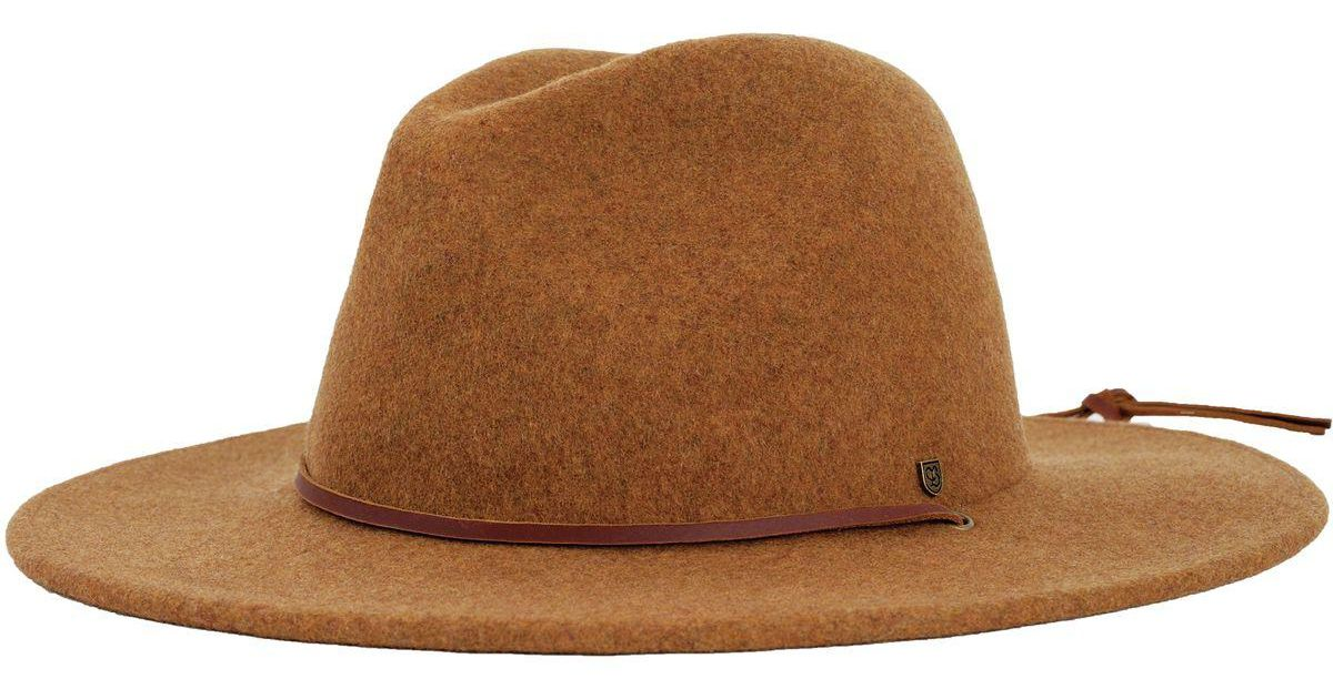 9aafac158c4 Lyst - Brixton Field Hat in Brown
