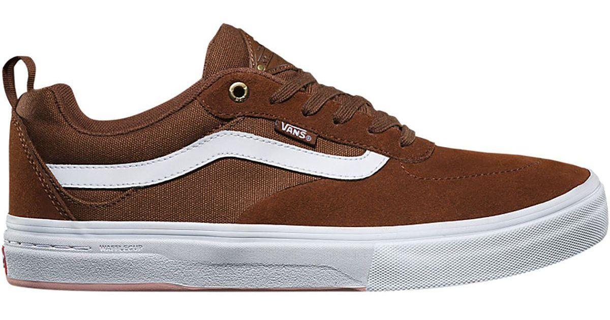 lyst vans kyle walker pro shoe in brown for men