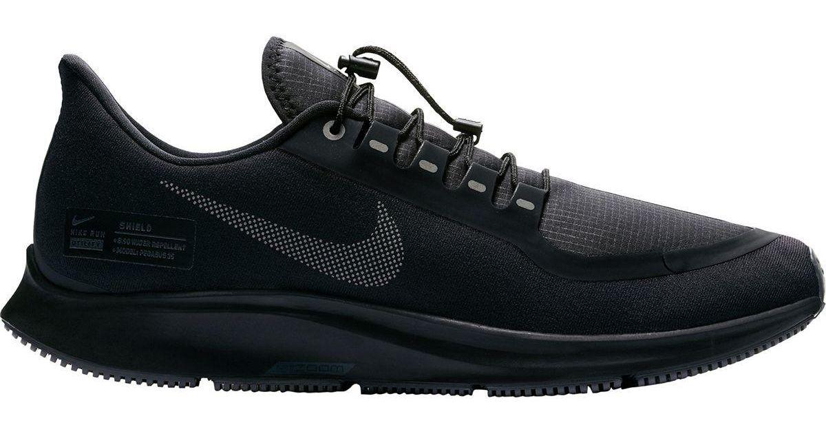 f4c34ed88811c Lyst - Nike Air Zoom Pegasus 35 Shield Running Shoe in Black for Men