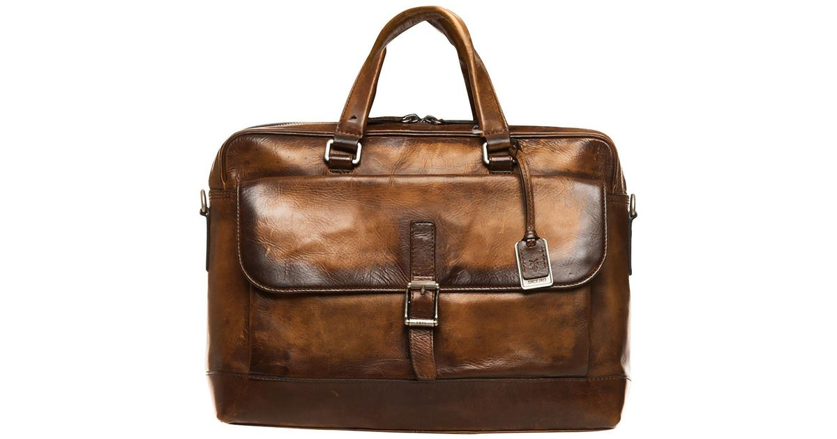 d44713704 Frye Oliver 2 Handle Bag in Brown - Lyst