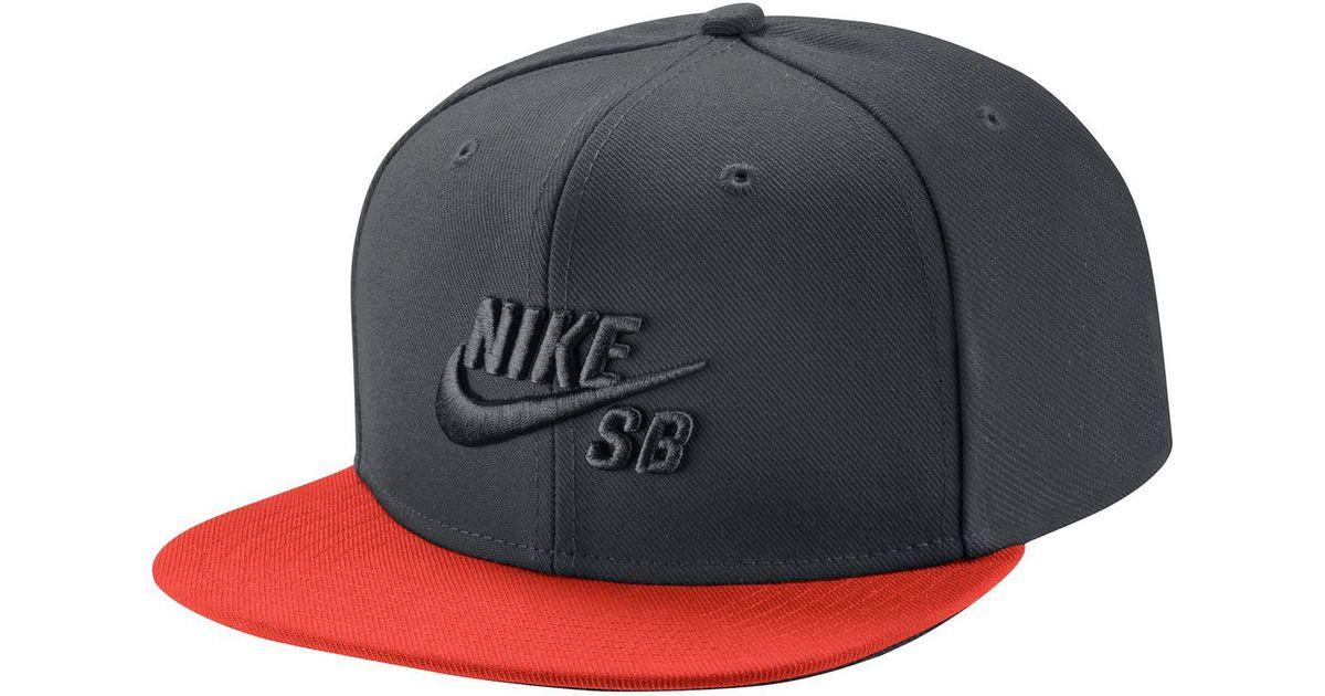 e51a16c7 Lyst - Nike Sb Icon Pro Snapback Hat in Black for Men