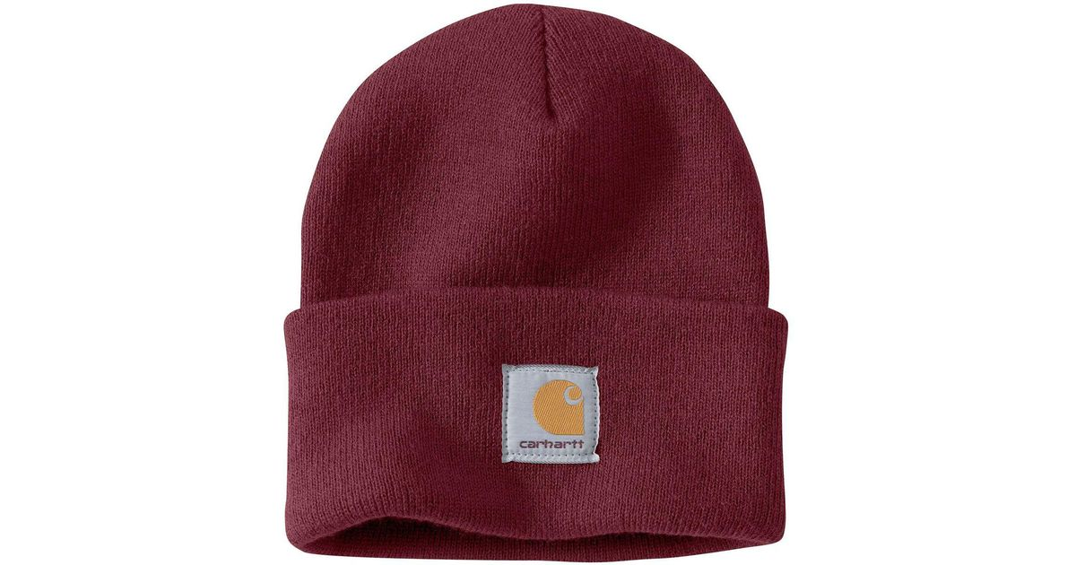 Lyst - Carhartt Acrylic Watch Hat in Red for Men 3dff058f05b