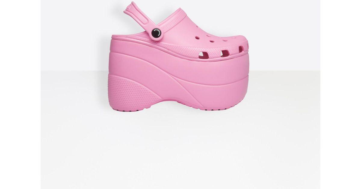 Appliqués Sandales En Coloris À Balenciaga Et Plateforme Pink bygf76Yv