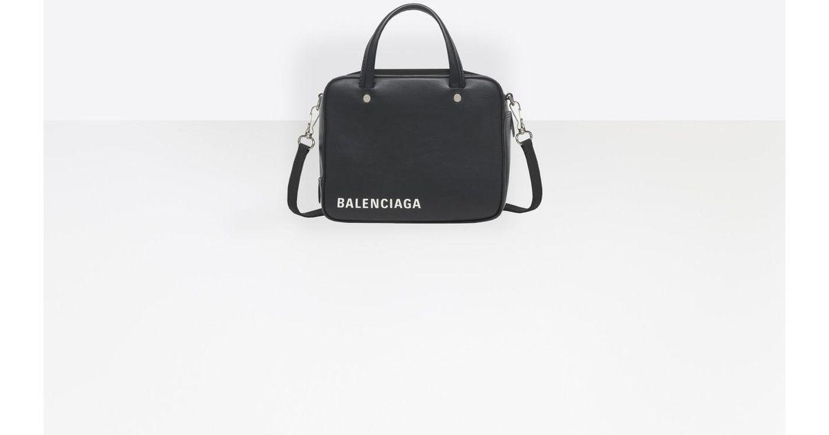 Schultertasche Handtasche TRIANGLE DUFFLE S Leder weiss Balenciaga bX9Hhd