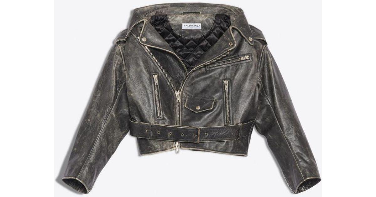 94c28f71bf9f Lyst - Balenciaga Vintage Swing Biker Jacket in Black