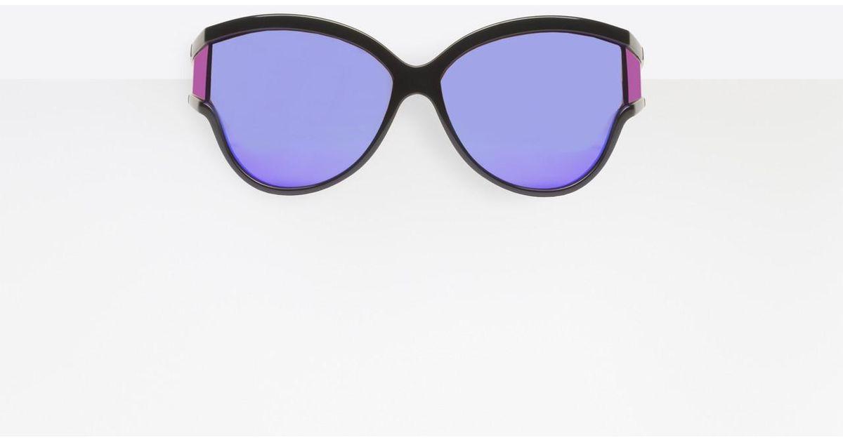 3540b31dcb91a Lyst - Balenciaga Unlimited Round Sunglasses in Purple