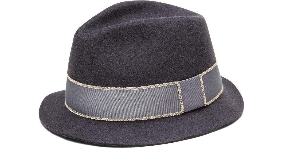 1b7c1c797 Lyst - Banana Republic Artesano | Lin Wool Panama Hat in Gray for Men
