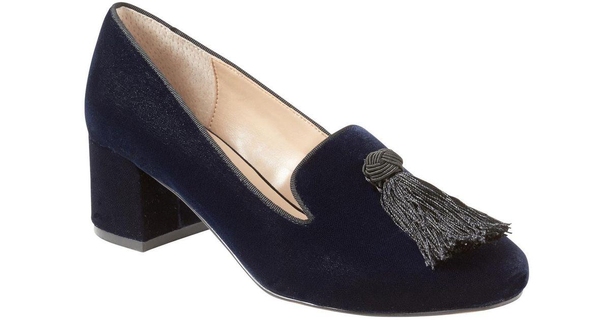 51ae0e02529 Lyst - Banana Republic Mid-heel Smoking Slipper With Tassel in Blue