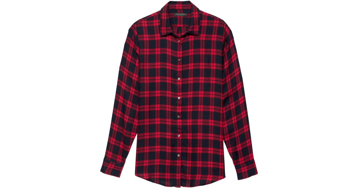 804baf343ba Banana Republic Dillon Classic-fit Plaid Flannel Shirt in Red - Save 54% -  Lyst