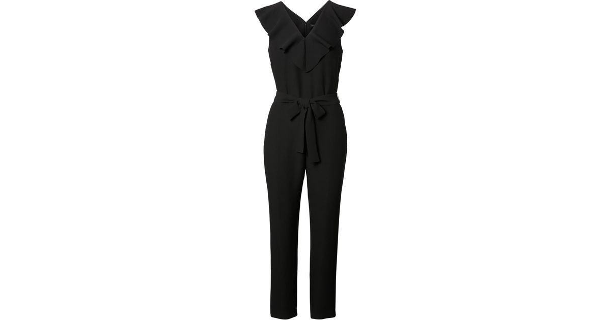 298d64ae1a09 Lyst - Banana Republic Petite Ruffled Jumpsuit in Black