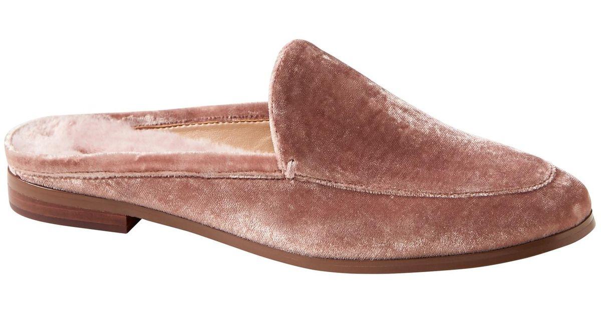 e35838c43eb Lyst - Banana Republic Demi Faux Fur Velvet Loafer Slide in Pink