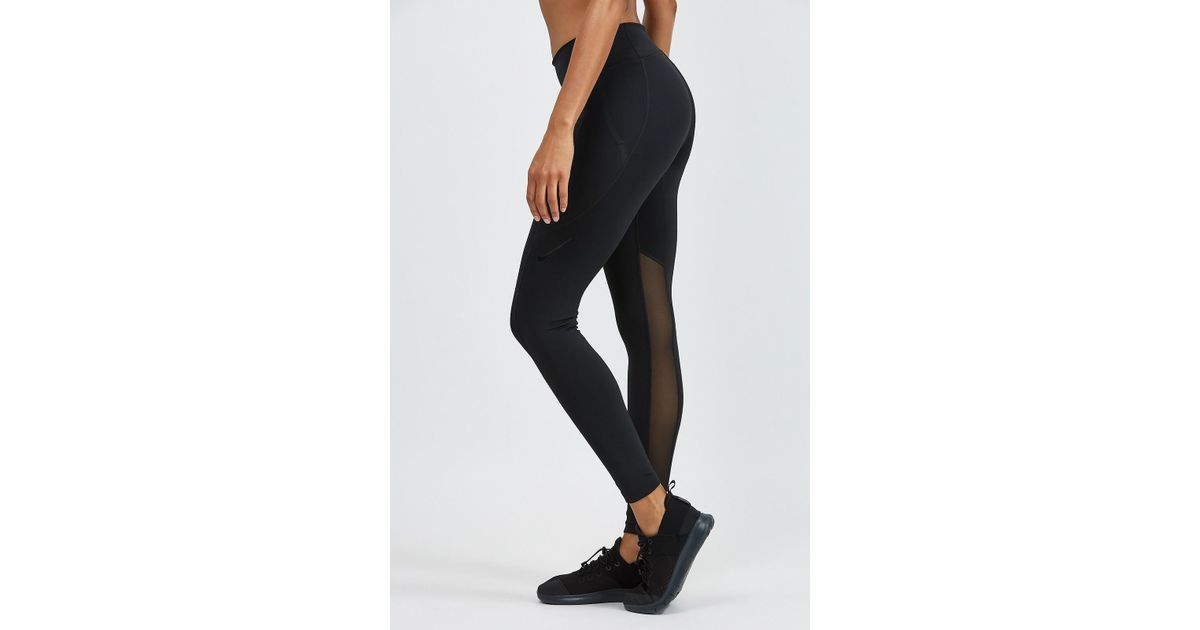 802109c5a5995 Nike Power Pocket Lux Tights in Black - Lyst