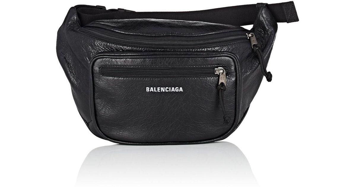 Lyst - Balenciaga Explorer Arena Leather Belt Bag in Black for Men