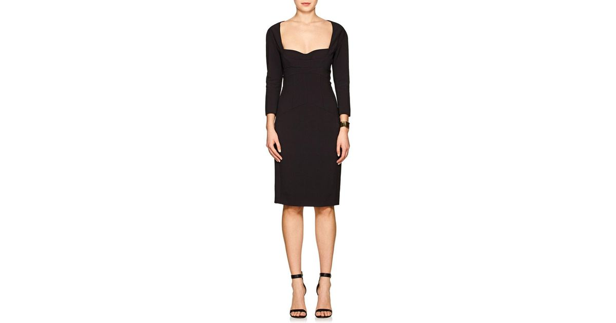 Womens Scuba Stretch-Crepe Fitted Dress Narciso Rodriguez