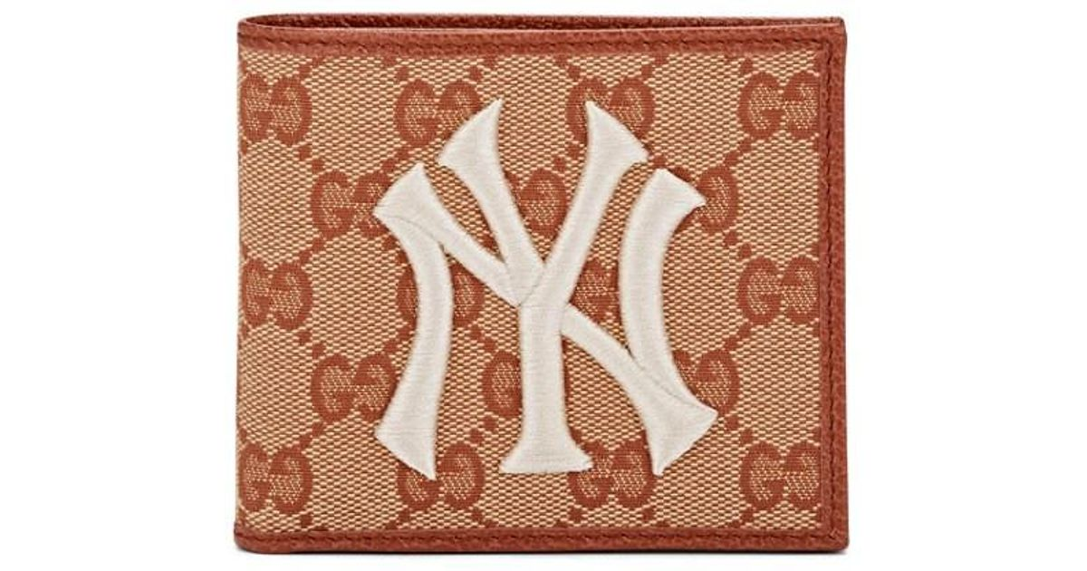 9b138f189e93 Gucci Ny Yankees Wallet in Brown for Men - Save 21% - Lyst