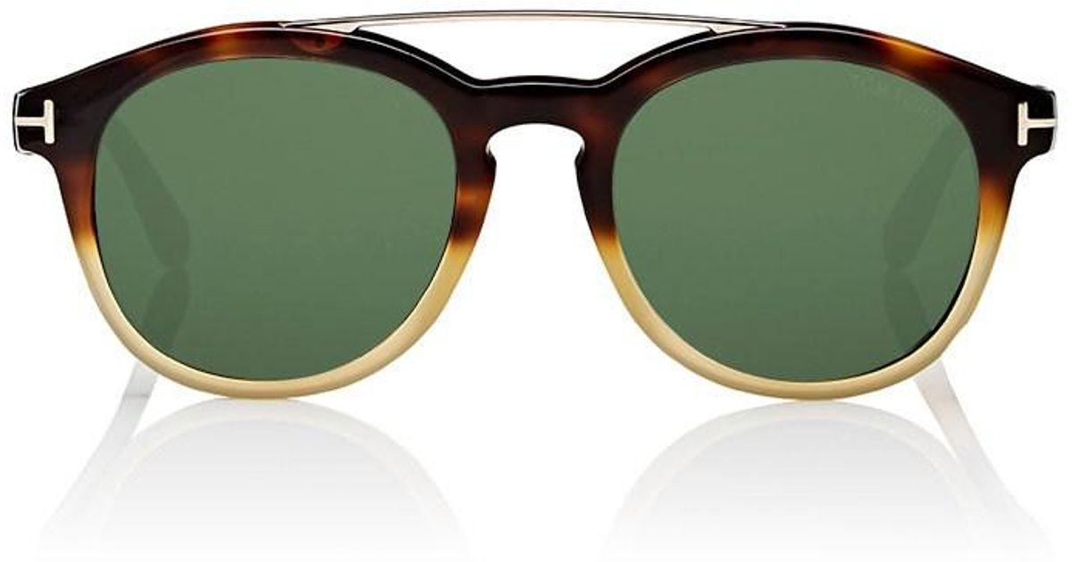 1345cb28b5 Lyst - Tom Ford Newman Sunglasses in Green for Men