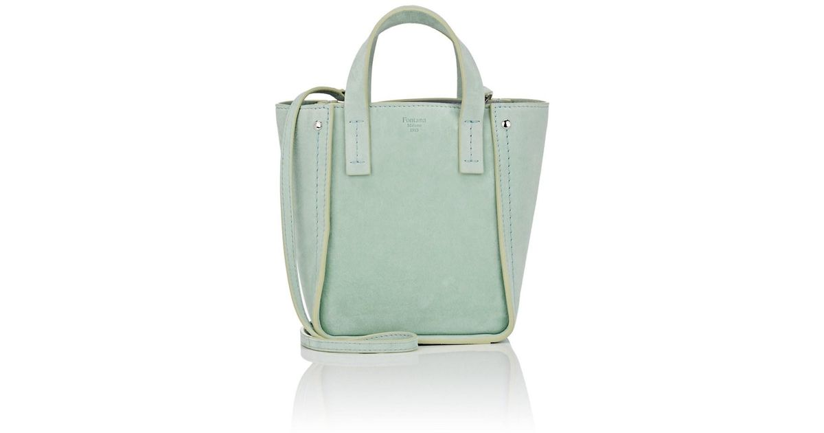 aa45bbcffb3e Lyst - Fontana Milano 1915 Tum Tum Toy Suede Tote Bag in Blue