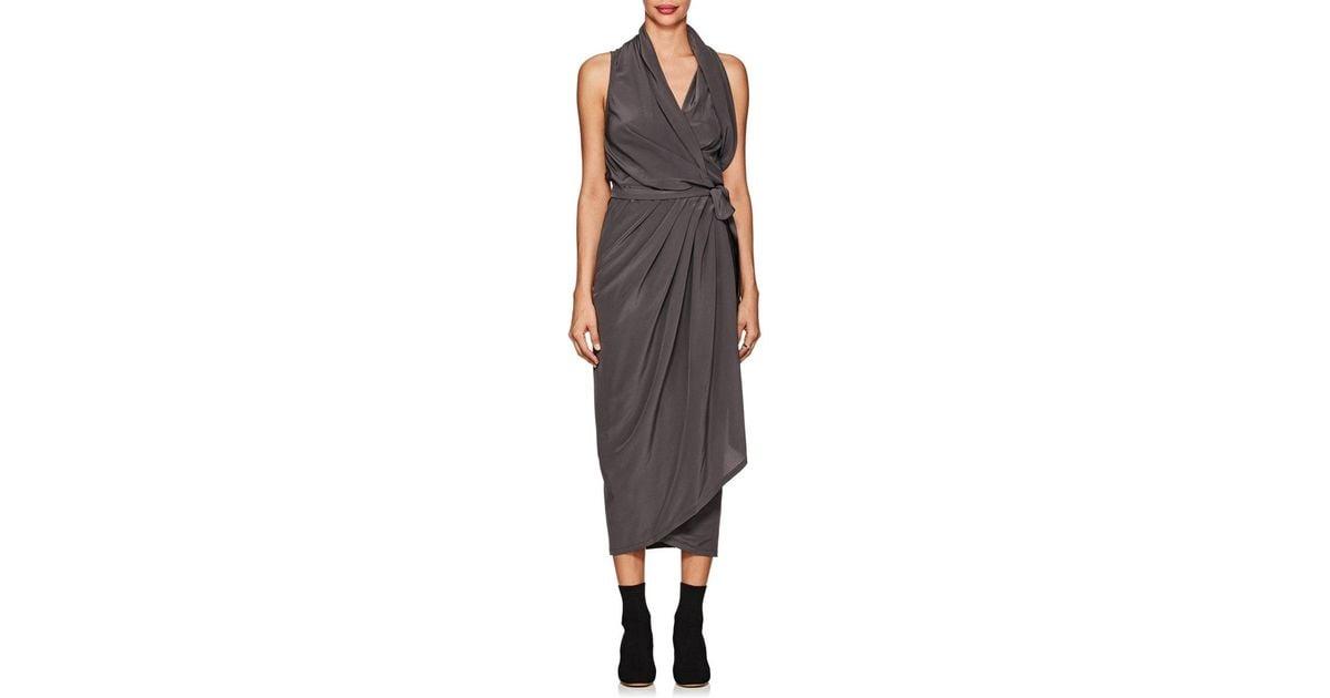 Silk wrap dress Rick Owens uLGcfdV