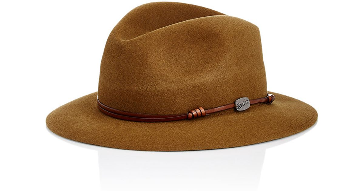 Borsalino Traveler Fedora In Brown For Men  Lyst-7567
