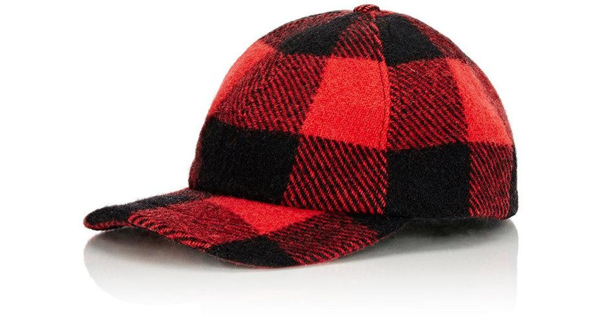 Lyst - Crown Cap Plaid Fitted Baseball Hat in Red for Men 3b0cba607a8