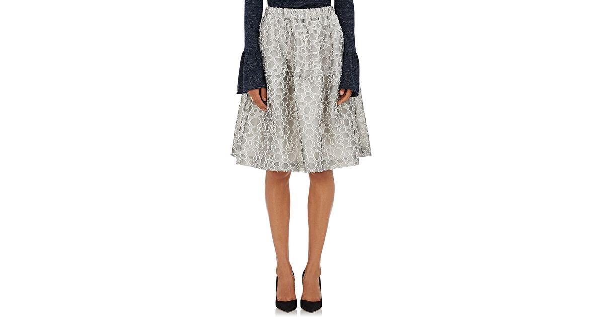 co s dot pattern a line skirt in white lyst