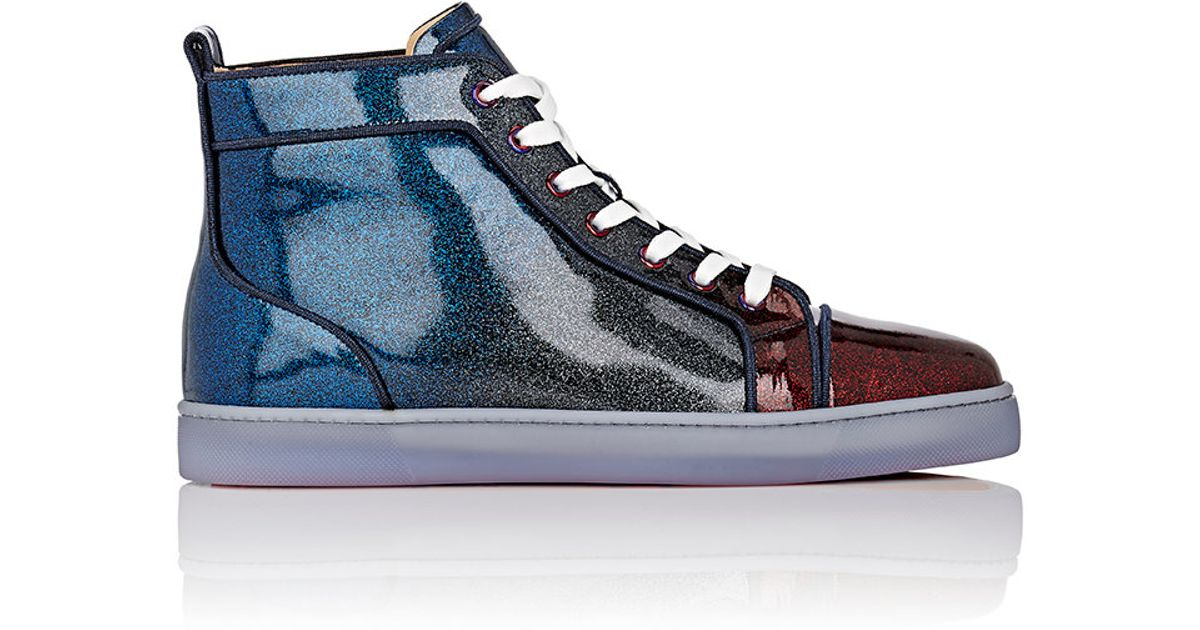 ff08be477a22 Lyst - Christian Louboutin Men s Louis Orlato Sneakers in Blue for Men