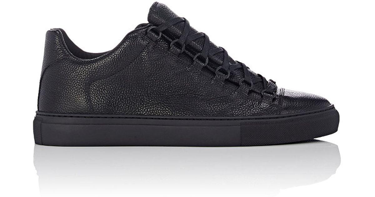 balenciaga arena low top sneakers in black for men lyst. Black Bedroom Furniture Sets. Home Design Ideas