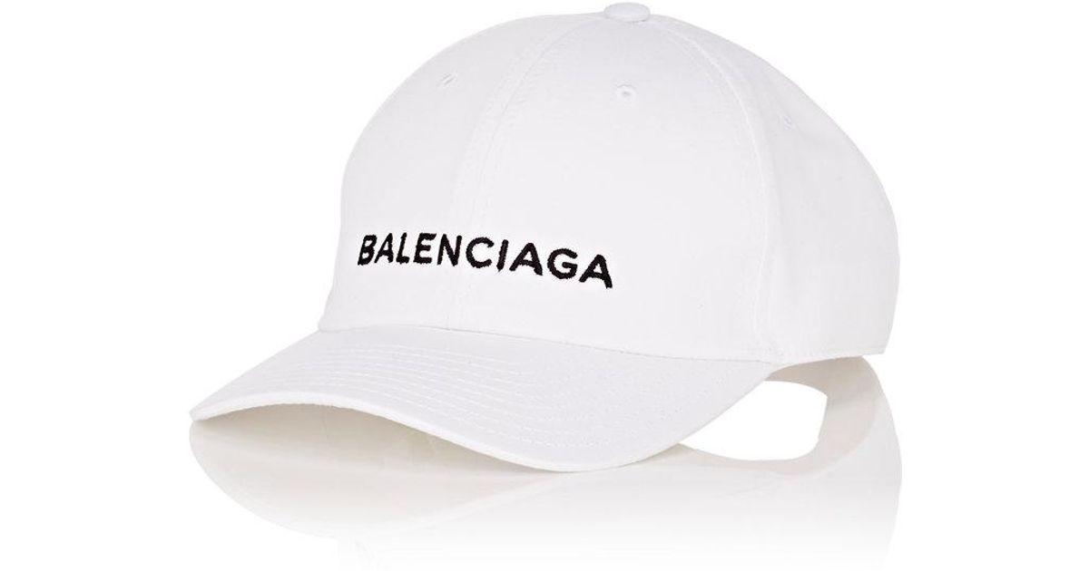 c2c765e6a7c32 Balenciaga Baseball Cap in White for Men - Lyst