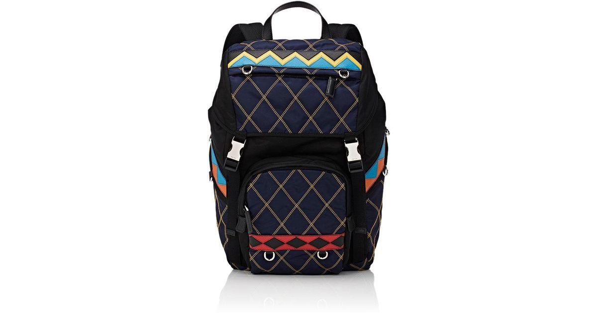 b4971d640dd028 Prada Utility Backpack in Blue for Men - Lyst