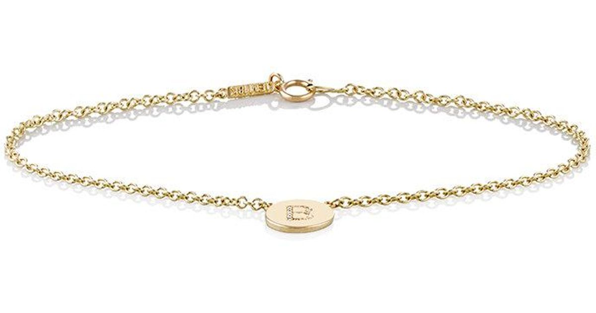 Jennifer Meyer Womens Initial E Disc Bracelet