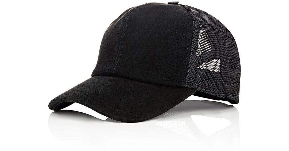 7225af4e9fb Lyst - Vianel Suede Trucker Cap in Black for Men
