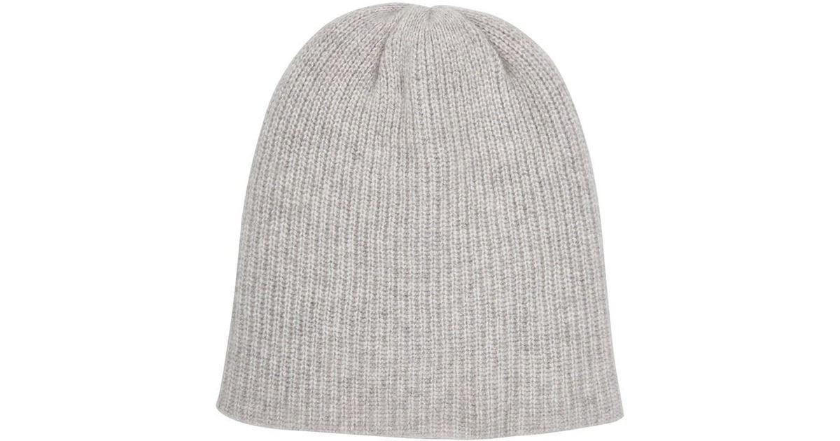 9cd0a9379d6084 Lyst - The Elder Statesman Watchman Cashmere Cap in Gray