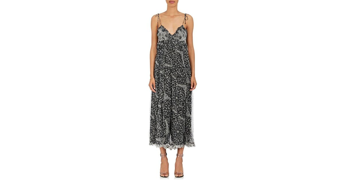 f52bd02fea Lyst - Zimmermann Divinity Floral Silk Chiffon Jumpsuit in Black